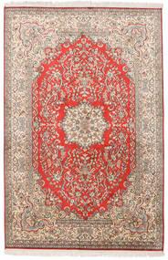 Cachemira Pura De Seda Alfombra 124X190 Oriental Hecha A Mano Gris Claro/Blanco/Crema (Seda, India)