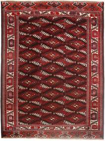 Turkaman Alfombra 214X294 Oriental Hecha A Mano Rojo Oscuro/Marrón Oscuro (Lana, Persia/Irán)
