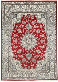 Nain Alfombra 150X207 Oriental Hecha A Mano Gris Claro/Rojo Oscuro (Lana, Persia/Irán)