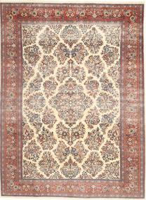 Sarough Patina Alfombra 200X280 Oriental Hecha A Mano Beige/Marrón Oscuro (Lana, Persia/Irán)
