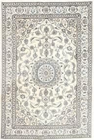 Nain Alfombra 196X293 Oriental Hecha A Mano Gris Claro/Beige (Lana, Persia/Irán)