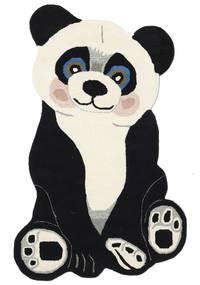 Panda Baby Alfombra 100X160 Moderna Gris Oscuro/Beige (Lana, India)