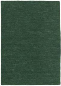 Kilim Loom - Verde Hierba Alfombra 140X200 Moderna Tejida A Mano Verde Oscuro (Lana, India)