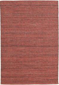 Alva - Dark_Rust/Negro Alfombra 140X200 Moderna Tejida A Mano Rojo Oscuro/Óxido/Roja (Lana, India)