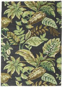 Jungel - Verde/Negro Alfombra 160X230 Moderna Verde Oscuro/Verde Claro/Gris Oscuro (Lana, India)