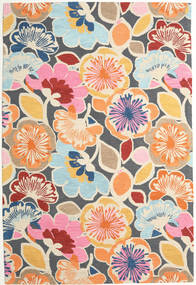 Flower Power - Multi Alfombra 200X300 Moderna Gris Oscuro/Beige (Lana, India)