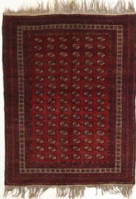 Afghan Khal Mohammadi Alfombra 134X180 Oriental Hecha A Mano Rojo Oscuro (Lana, Afganistán)