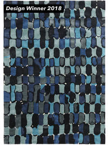 In The Woods - 2018 Alfombra 250X350 Moderna Azul Oscuro/Azul Grande ( India)