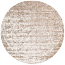 Crystal - Soft_Beige Alfombra Ø 250 Moderna Redonda Blanco/Crema/Gris Claro Grande ( India)