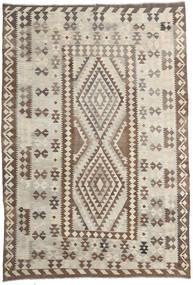 Kilim Afghan Old Style Alfombra 200X293 Oriental Tejida A Mano Gris Claro/Marrón (Lana, Afganistán)
