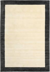 Handloom Frame - Negro/Blanco Alfombra 200X300 Moderna Beige/Gris Oscuro (Lana, India)