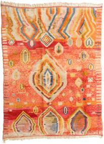 Berber Moroccan - Mid Atlas Alfombra 221X295 Moderna Hecha A Mano Naranja/Beige Oscuro (Lana, Marruecos)