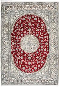 Nain 9La Alfombra 246X345 Oriental Hecha A Mano Gris Claro/Beige (Lana/Seda, Persia/Irán)