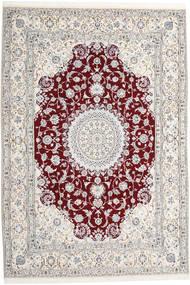 Nain 9La Alfombra 247X368 Oriental Hecha A Mano Gris Claro/Beige (Lana/Seda, Persia/Irán)