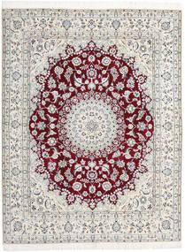 Nain 9La Alfombra 198X258 Oriental Hecha A Mano Gris Claro/Beige (Lana/Seda, Persia/Irán)