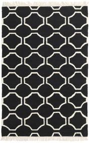 London - Negro/Blanco Crudo Alfombra 160X230 Moderna Tejida A Mano Negro/Beige (Lana, India)