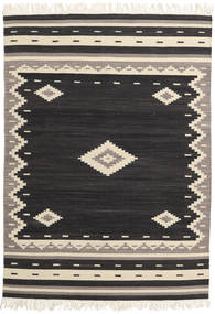 Tribal - Negro Alfombra 160X230 Moderna Tejida A Mano Negro/Beige (Lana, India)