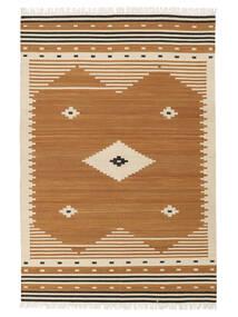 Tribal - Amarillo Mostaza Alfombra 160X230 Moderna Tejida A Mano Marrón/Marrón Claro (Lana, India)