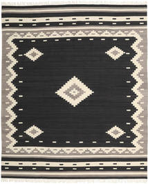 Tribal - Negro Alfombra 250X300 Moderna Tejida A Mano Negro/Beige Grande (Lana, India)