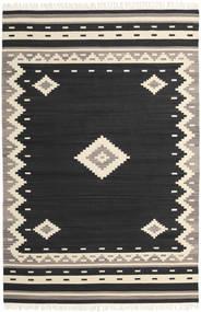 Tribal - Negro Alfombra 200X300 Moderna Tejida A Mano Negro/Beige (Lana, India)