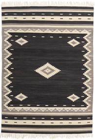 Tribal - Negro Alfombra 140X200 Moderna Tejida A Mano Negro/Beige (Lana, India)