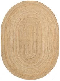 Frida Oval - Natural Alfombra 160X230 Moderna Tejida A Mano Beige Oscuro/Beige ( India)