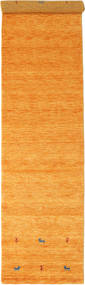 Gabbeh Loom Two Lines - Naranja Alfombra 80X350 Moderna Naranja/Marrón Claro (Lana, India)