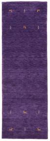Gabbeh Loom Two Lines - Violeta Alfombra 80X250 Moderna Púrpura Oscuro (Lana, India)