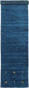 Gabbeh Loom Two Lines - Azul Oscuro Alfombra 80X350 Moderna Azul Oscuro/Azul (Lana, India)