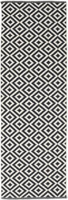 Torun - Negro/Neutral Alfombra 80X250 Moderna Tejida A Mano Negro/Gris Claro (Algodón, India)