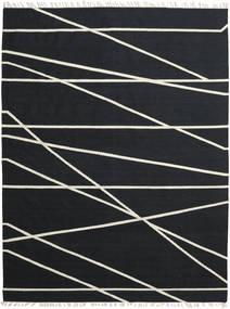 Cross Lines - Negro/Blanco Crudo Alfombra 200X300 Moderna Tejida A Mano Negro (Lana, India)