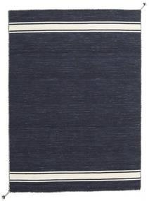 Ernst - Navy/Blanco Crudo Alfombra 170X240 Moderna Tejida A Mano Gris Oscuro (Lana, India)