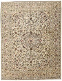 Keshan Alfombra 296X386 Oriental Hecha A Mano Gris Claro/Beige Grande (Lana, Persia/Irán)