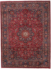 Mashad Alfombra 294X396 Oriental Hecha A Mano Rojo Oscuro/Gris Oscuro Grande (Lana, Persia/Irán)