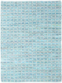 Elna - Bright_Blue Alfombra 170X240 Moderna Tejida A Mano Azul Claro/Azul Turquesa (Algodón, India)