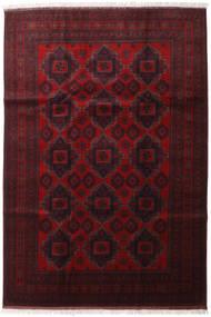 Afghan Khal Mohammadi Alfombra 204X298 Oriental Hecha A Mano Rojo Oscuro (Lana, Afganistán)