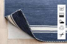 Anti Slip, Non-Woven Alfombra 80X300 Moderna Azul/Gris Claro ( Bélgica)