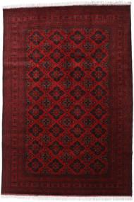 Afghan Khal Mohammadi Alfombra 200X293 Oriental Hecha A Mano Rojo Oscuro/Roja (Lana, Afganistán)