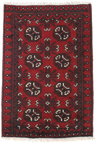 Afghan Alfombra 77X113 Oriental Hecha A Mano Rojo Oscuro/Negro (Lana, Afganistán)