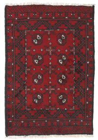 Afghan Alfombra 76X112 Oriental Hecha A Mano Rojo Oscuro/Negro (Lana, Afganistán)