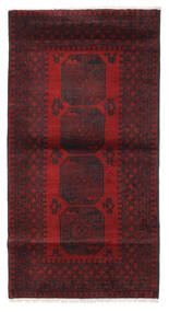Afghan Alfombra 103X193 Oriental Hecha A Mano Rojo Oscuro/Negro (Lana, Afganistán)