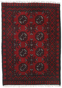 Afghan Alfombra 76X117 Oriental Hecha A Mano Rojo Oscuro/Negro (Lana, Afganistán)