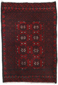 Afghan Alfombra 80X113 Oriental Hecha A Mano Rojo Oscuro/Negro (Lana, Afganistán)