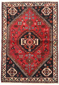 Shiraz Alfombra 106X154 Oriental Hecha A Mano Negro/Rojo Oscuro (Lana, Persia/Irán)