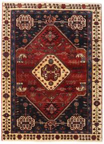 Gashgai Alfombra 108X148 Oriental Hecha A Mano Rojo Oscuro/Negro (Lana, Persia/Irán)