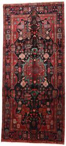 Nahavand Alfombra 160X360 Oriental Hecha A Mano Rojo Oscuro/Negro (Lana, Persia/Irán)