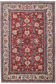 Yazd Patina Alfombra 200X300 Oriental Hecha A Mano Gris Claro/Rojo Oscuro (Lana, Persia/Irán)