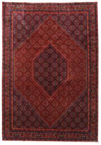 Bidjar Zanjan Alfombra 253X365 Oriental Hecha A Mano Rojo Oscuro/Negro Grande (Lana, Persia/Irán)