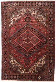 Heriz Alfombra 215X318 Oriental Hecha A Mano Rojo Oscuro/Marrón Oscuro (Lana, Persia/Irán)