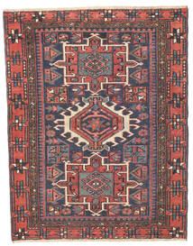 Heriz Patina Alfombra 96X123 Oriental Hecha A Mano Gris Oscuro/Óxido/Roja (Lana, Persia/Irán)